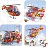 Set petits puzzles L'hélicoptère de Pierre (4 puzzles) - Janod