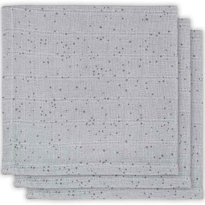 Lot de 3 mini langes Mini dots gris (31 x 31 cm)  par Jollein