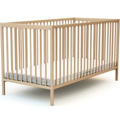 Lit à barreaux en bois de hêtre verni Essentiel (70 x 140 cm)