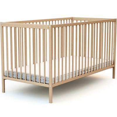 Lit à barreaux en bois de hêtre verni Essentiel (70 x 140 cm)  par AT4