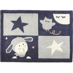 Tapis rectangulaire Merlin (130 x 90 cm)