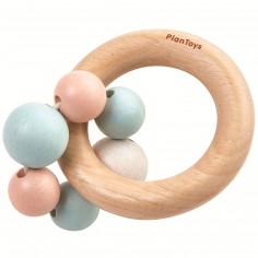 Hochet en bois Perles pastel