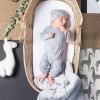 Bonnet de naissance Little lion gris  par Jollein