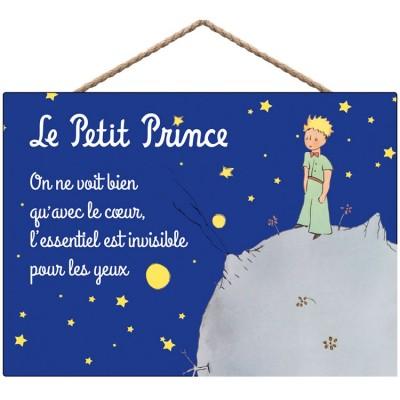 Panneau en bois Le Petit Prince terre 30x20 Le Petit Prince