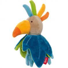 Hochet réversible oiseau fleur (18 cm)