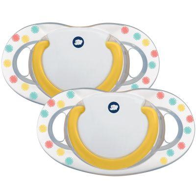 Lot de 2 sucettes physiologiques Dental Safe en latex Confettis (18-36 mois)  par Bébé Confort