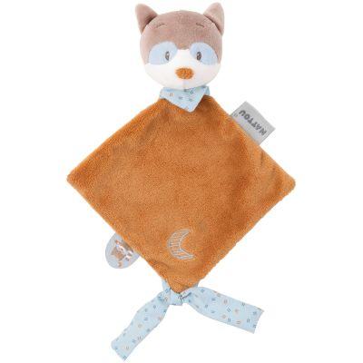 Mini doudou attache sucette Bob le raton laveur  par Nattou