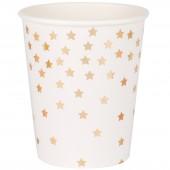 Gobelets en carton étoiles dorées métallisées (8 pièces) - My Little Day