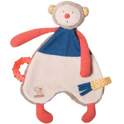 Doudou de dentition singe Les Papoums  par Moulin Roty