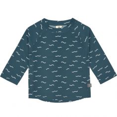 Tee-shirt anti-UV manches longues Vagues bleu (24 mois)