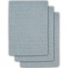 Lot de 3 gants de toilette Mini dots vert d'eau