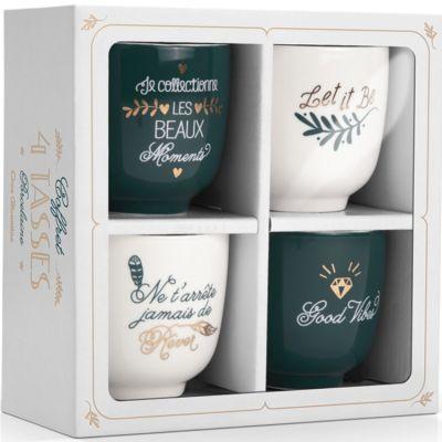 Coffret de 4 tasses en céramique