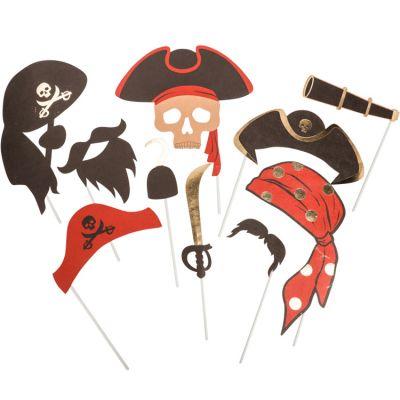 Accessoires pour photos Pirate (10 pièces)  par Arty Fêtes Factory