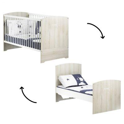 Lit bébé évolutif Little Big Bed Smile hêtre cendré (70 x 140 cm)  par Baby Price