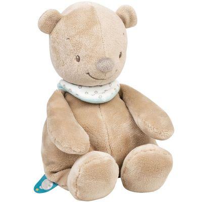 Peluche Basile l'ours (28 cm)  par Nattou