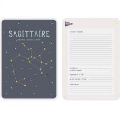Affiche signe astrologique Sagittaire (21,4 x 32,5 cm)