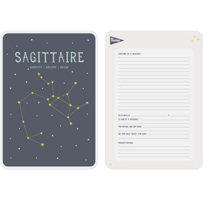 Affiche signe astrologique Sagittaire (21,4 x 32,5 cm)  par Milestone