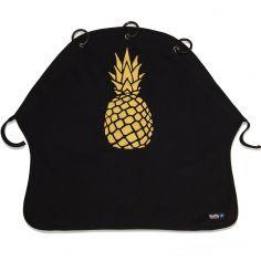 Protection pour poussette Baby Peace Ananas or et noir en coton bio