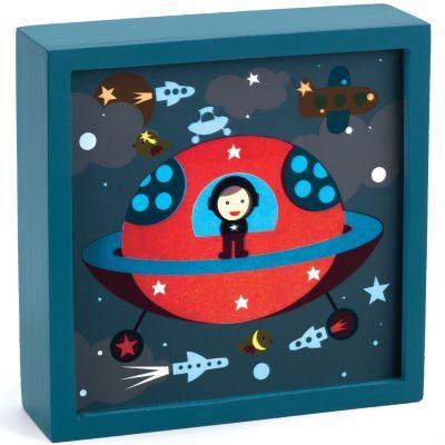 Tableau veilleuse Polo Space (14 x 14 cm)  par Djeco
