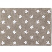 Tapis lavable Etoile taupe (120 x 160 cm) - Lorena Canals