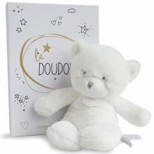 Peluche pantin ours blanc Le Doudou (26 cm)  par Doudou et Compagnie