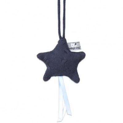 Etoile décorative à suspendre Cable Uni bleu marine  par Baby's Only