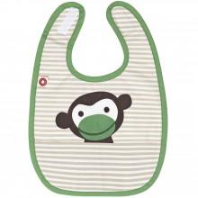 Bavoir à velcro à poche singe en coton bio  par Franck & Fischer