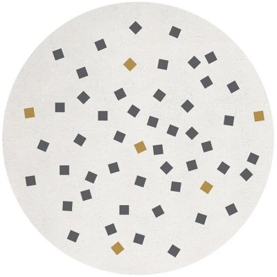 Tapis coton imprimé petits carrés (150 cm)  par Lilipinso