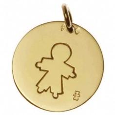 Médaille Pastille petit garçon 16 mm (or jaune 750°)