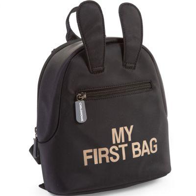 Sac à dos bébé My first bag noir (23 cm) Childhome
