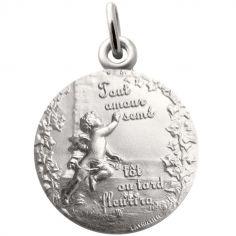 Médaille Ange promesse 18 mm (argent 925°)