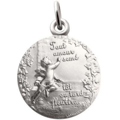 Médaille Ange promesse 18 mm (argent 925°) Martineau