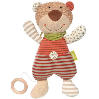 Peluche musicale ours Natural love (32 cm) Sigikid