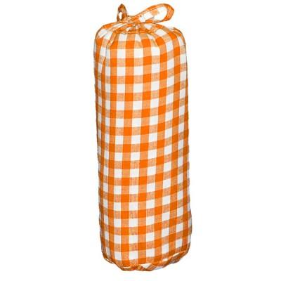 drap housse gros carreaux orange 60 x 120 cm par taftan. Black Bedroom Furniture Sets. Home Design Ideas