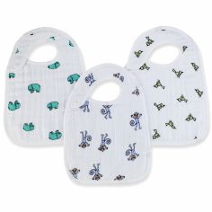 Lot de 3 bavoirs Nibble animaux Jungle jam