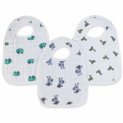Lot de 3 bavoirs Nibble animaux Jungle jam aden + anais