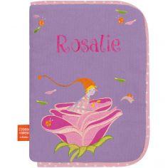 Protège carnet de santé Lutine à la rose (personnalisable)