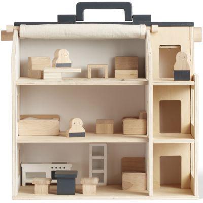 Maison de poupée avec meubles en bois Aiden  par Kid's Concept