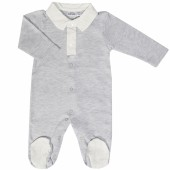 Pyjama léger Grey Birds (naissance : 50 cm) - Les Rêves d'Anaïs