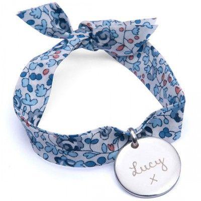 Bracelet enfant Liberty avec médaille personnalisable (argent 925°)  par Merci Maman