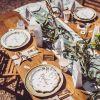Chemin de table blanc Baptême de rêve  par Arty Fêtes Factory