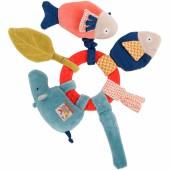 Hochet anneau hippopotame Les Papoum - Moulin Roty