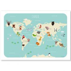 Affiche A3 Le monde des animaux (personnalisable)