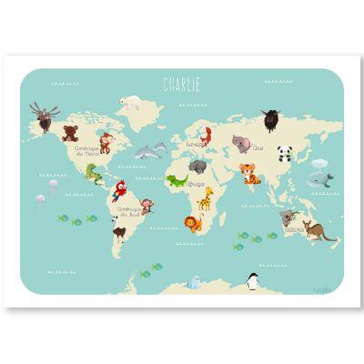 Affiche A3 Le monde des animaux (personnalisable)  par Kanzilue