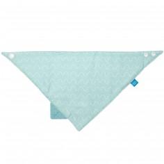 Bavoir bandana avec élément de dentition Vibration bleu