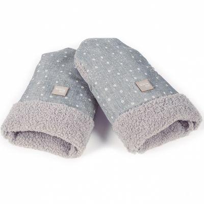 Moufles pour poussette Dreamer grises