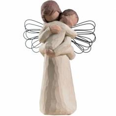 Statutette personnage l'étreinte de l'Ange