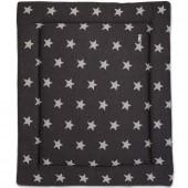 Tapis de parc Star gris anthracite et gris (75 x 95 cm) - Baby's Only