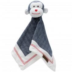 Doudou singe bleu Cottage