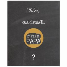 Carte à gratter Annonce de grossesse Chalkboard Papa (8 x 10 cm)